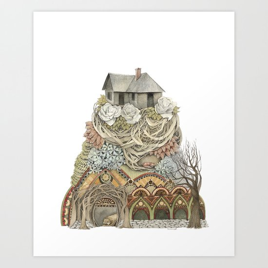 Sweet Home I // Forest Illustration Art Print
