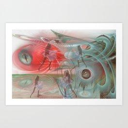 Third kind contacts Art Print
