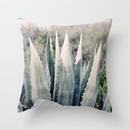 Pale Agave Throw Pillow
