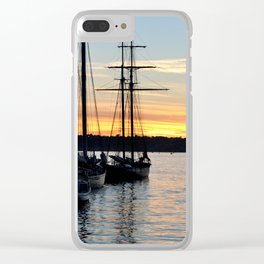 SHIPS AT SUNSET Clear iPhone Case