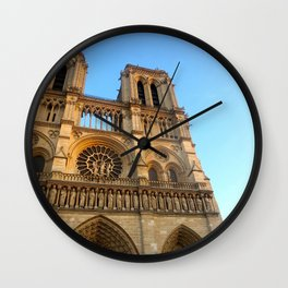 Notre Dame in the Sunlight Wall Clock