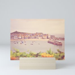 Cornish harbour. Mini Art Print