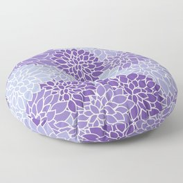 Ultra Violet Lavender Dahlias Floor Pillow