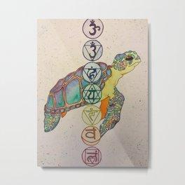 Chakra Turtle Metal Print
