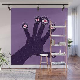 Weird Hand With Watching Eyes Wall Mural