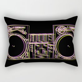 Turntable and Mixer illustration - sketch / drawing Rectangular Pillow
