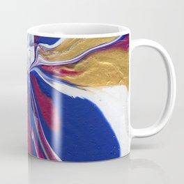 Floral Fluidity - Abstract, acrylic, fluid, painting Coffee Mug