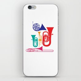 Colorful Wind Musical Instrument Musician Player iPhone Skin