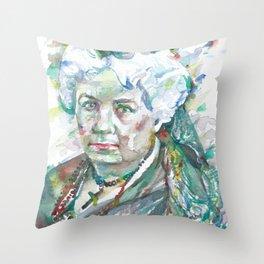 ELIZABETH CADY STANTON watercolor portrait Throw Pillow