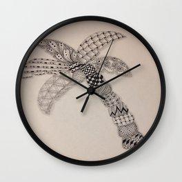 Zentangle Palm Tree Wall Clock