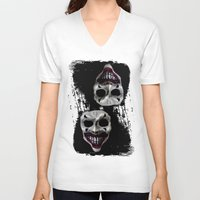 psycho V-neck T-shirts featuring psycho by arTistn