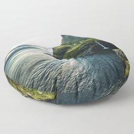 waterfall at faroe Floor Pillow