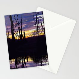 Fall Sunset in Northern Ontario Stationery Cards