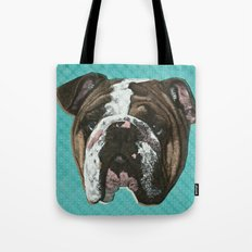 English Bulldog Print Tote Bag
