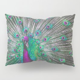 Psychedelic Peacock Pillow Sham