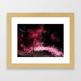 Sakura Garden print Framed Art Print