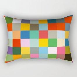 Haumea - Abstract Colorful Pixel Patchwork Art Rectangular Pillow