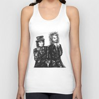 goth Tank Tops featuring Goth Detectives by Grace Mutton