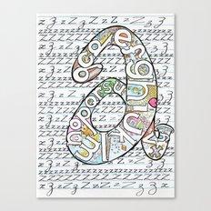 Simple ABC Canvas Print