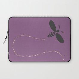 Purple Bee Buzz Laptop Sleeve