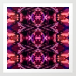 Bloomed Sight Kaleidoscope Collage Art Print