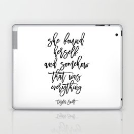 Inspirational Poster Motivational Quote Gift Idea For Her Typography Quote Typographic Print Laptop & iPad Skin