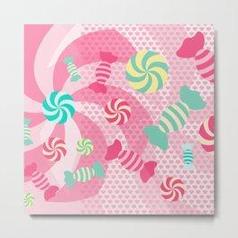 Pastel Sugar Crush Metal Print