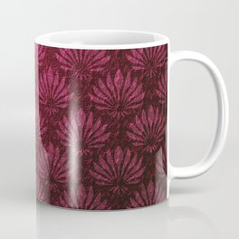 Deep red art nouveau pattern, fan pattern, vintage,art deco, victorian,belle epoque,purple,elegant,chic,modern,beautiful,feminine,asian,art nouveau,red,metallic Coffee Mug