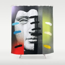 Composition on Panel 18 Shower Curtain