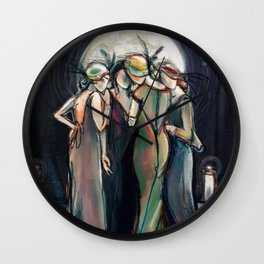 Moonlight Gathering Wall Clock