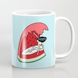 Watermelon Surf Coffee Mug