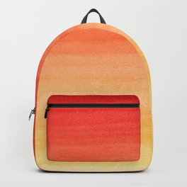 Burning Sunset in My Mind Watercolor Horizontal Brushstroke Line Pattern Backpack