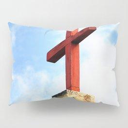Cross Church Roof Pillow Sham