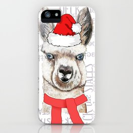 Christmas Llama Deck the Stalls iPhone Case