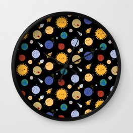 Kawaii Solar System Wall Clock