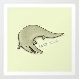 Croco-Smile Art Print