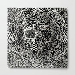 Lace Skull Metal Print