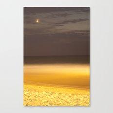 Moon over seaing Canvas Print