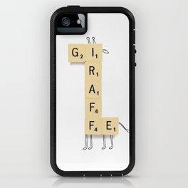 Giraffe Scrabble iPhone Case