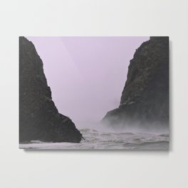 Stormy Weather on the Oregon Coast Metal Print