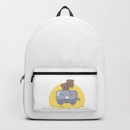 Morning flying toaster Backpack