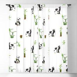 Panda bear,cute pattern kids decoration  Blackout Curtain