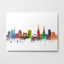 Coventry England Skyline Metal Print