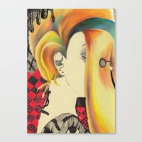 bible Canvas Prints featuring Neon Bible by Kero