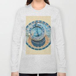 Closeup on Prague Astronomical Clock Long Sleeve T-shirt