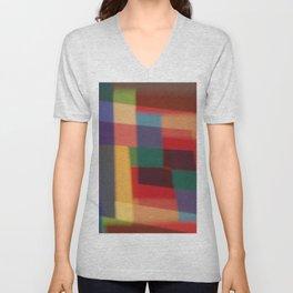 Colored blur background 5 Unisex V-Neck