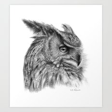 Eagle Owl G085 Art Print