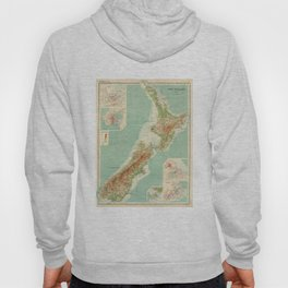 Vintage Map of New Zealand (1922) Hoody