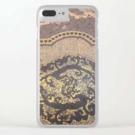 Gold mosaic art deco art nouveau Clear iPhone Case