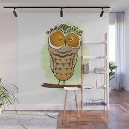 Crazy Owl Wall Mural